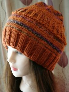 Hand Knitted Beanie Warm Winter Women's Hat Australia Made