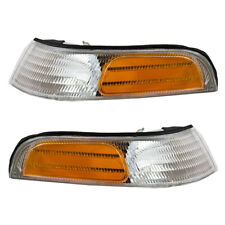 Pair Set Park Signal Front Marker Light Lamps for 1992-1997 Ford Crown Victoria