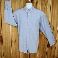 Old Navy Dress Shirt Regular Fit Mens M Blue 100% Cotton Long Sleeve Button Down