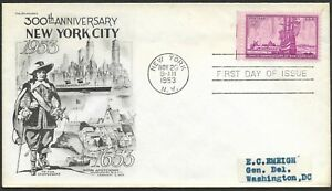 Mr B's 300th Anniversary of New York City November 20, 1953 - First Day Issue
