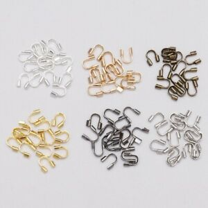 100pcs 4.5x4mm wire protectors Wire Guard loops U shape accessories for jewelry