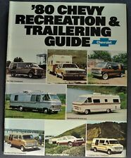 1980 Chevrolet RV Towing Brochure Caprice Pickup Truck Suburban Van Motor Home