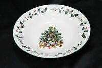 """Gibson Tree Trimmings Xmas Soup Bowls 8"""" Set of 8"""