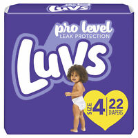 Luvs Pro Level Leak Protection Diapers Size 1,2,3,4,5,6 - Disposable Leakguards