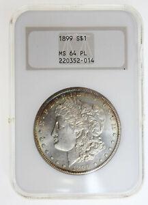 1899 $1 MORGAN SILVER DOLLAR NGC MS64 PL