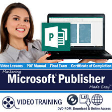 Learn Microsoft PUBLISHER 2013 2010 Training Tutorial DVD-ROM Course 69 Lessons