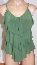 NWT Magic Suit by Miraclesuit Swimsuit Tankini Top sz 18 Olive Green