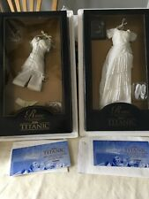 LOT of 2 Franklin Mint TITANIC Rose Doll ENSEMBLES Heaven & Corset NRFB w/ COA'S