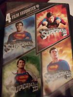 Superman I,II,III,IV 1,2,3,4(DVD,4-Film,4-Disc Set,Widescreen) Christopher Reeve