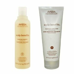 Aveda Scalp Benefits Balancing Shampoo 8.5 Oz and Conditioner 6.7 Oz