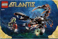 Lego Atlantis # 8076 Deep Sea Striker - Bauanleitung (keine Steine!)