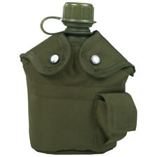 US WATER BOTTLE ALICE CANTEEN + BELT HOLDER + CUP ARMY MILITARY CAMPING OLIVE