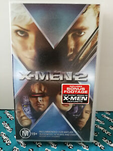 X-Men 2 VHS Hugh Jackman Halle Berry Patrick Stewart Cult Classic