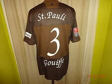 "FC St.Pauli DoYou Football Matchworn Trikot 08/09 ""Congstar"" + Nr.3 Gouiffe Gr.L"