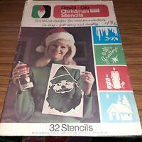 Vintage Doubl Glo Christmas Stencils 32 Stencils Unused for Snow Spray or Crafts