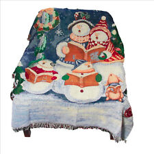 Snowman Family Tapestry Throw 50x60 inches