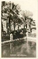 Warner Hot Springs B&W RPPC Real Photo Palm Trees CA California Postcard 1945