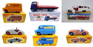 Lot de 6 Dinky Toys Atlas - Simca Triumph Bedford Diecast Voiture miniature LDT1