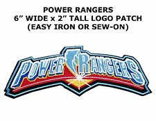 Retro Power Rangers 15cm Logo Sew Ironed On Badge Embroidery Applique Patch
