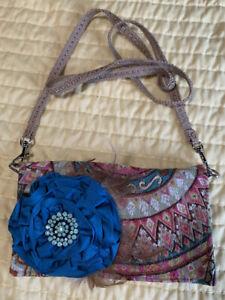Miss Margo Designs Handmade Tapestry Flap Fringe Crossbody Bag Shoulder Purse