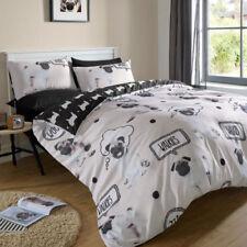 Linge de lit et ensembles noir fantaisie pour chambre à coucher