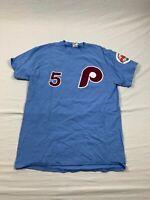 Gildan Philadelphia Phillies - Men's Blue Cotton Short Sleeve Shirt (M) - Used
