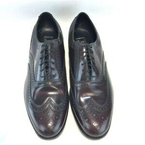 FLORSHEIM 10.5EEE Wing Tip Oxblood Oxford Dress Shoes