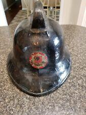Vintage Leather Fire Brigade Helmet England