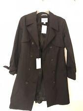 Cole Haan Trench Rain Coat Women's Small NWT Black