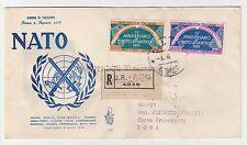 FRANCOBOLLI 1953 REPUBBLICA L.25+60 PATTO ATLANTICO SU RACC. FDC VENEZIA Z/5260