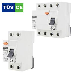 Fehlerstromschutzschalter FI-Schalter / 2-Polig / 4-Polig / 30mA / ⚡️25A 40A 63A