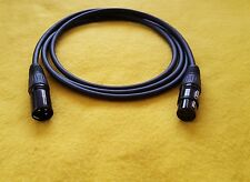 Mogami 2549 XLR-M to XLR-F 3 Pin Gold Contacts Balanced Audio Cable Black 15 ft