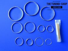 For Toyota Supra MKIV MK4 93-98 Pre-Facelift Chrome Dash Rings Surrounds (11)