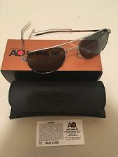 52mm Silver Frames American Optical AO Pilot Sunglasses