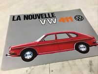 Audi 90 super Volkswagen 411 Coccinelle Combi 1600 prospectus brochure dépliant
