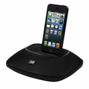 JBL OnBeat Micro Speaker Dock Lightning Connector for iPhone W/NEW Power Adopter