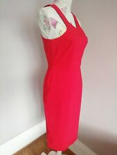 ASOS Red Bodycon Dress Size 12 Stretch Sexy midi pencil skirt sleeveless