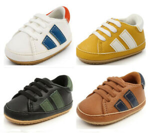 Newborn Baby Boy Pram Shoes Infant Sports Sneaker Child Rubber PreWalker Trainer