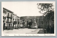 Sallent—Bages SPAIN Catalonia RPPC Rare Vintage Photo Foto—Tarjeta 1950s
