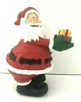 """2003 Don Mechanic Resin Santa Claus Figurine Holding Gifts 8"""" Tall"""