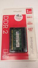 Integral 1Gb PC2 5300 667 MHZ DDR2 SODIMM Laptop Memory inc VAT NEW