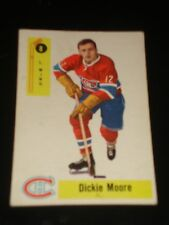 DICKIE MOORE 1958 Parkhurst #8, Montreal Canadiens, Hockey Card, HALL OF FAME