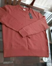 Large Men's M&S Sweatshirt Jumper Terracotta Pure Cotton 48 chest bnwt