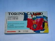 abbonamento TORINO CALCIO STAGIONE 1992-93