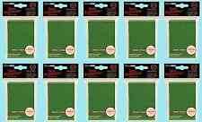 500 GREEN Ultra Pro DECK PROTECTOR Standard Size Card Sleeves NEW 10 packs MTG