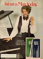 1970s vintage tobacco Ad, MAX 120 Cigarettes, ladies smoke-102313