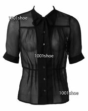 new RRP $80 PORTMANS BLACK PINTUCK TOP BUSINESS / AFTER 5 SHIRT 10