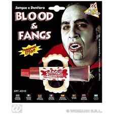 Widmann Sangue Finto e dentiera da Vampiro Dracula Halloween Mod. 4031d T.u