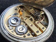 Paul Jannot Geneve 0800 Silver 35 mm Watch Pocket Watch Orologio Pocket Vintage