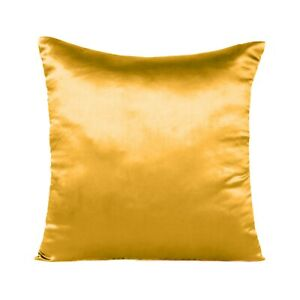 Satin Throw Pillow Solid Color Square Home Sofa Decor Pillow Cushion Cover 18x18